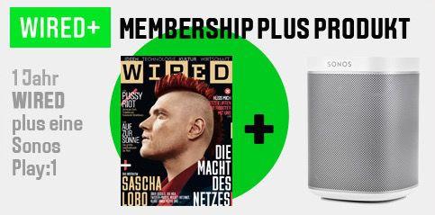 WIRED Mini Abo + Sonos Play:1 Lautsprecher 195€ zusammen
