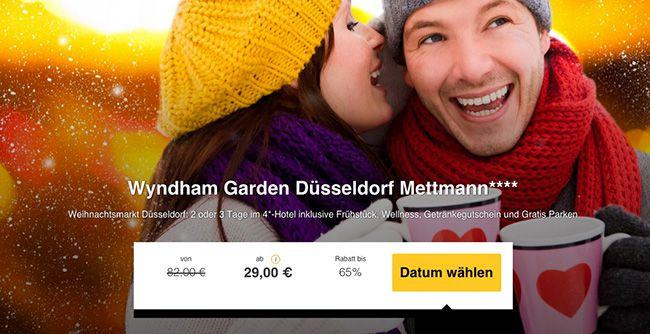 Weihnachtsmarkt Düsseldorf 2 3 Tage Düsseldorf im 4 Sterne Hotel mit Frühstück & Wellness ab 29€ p.P.