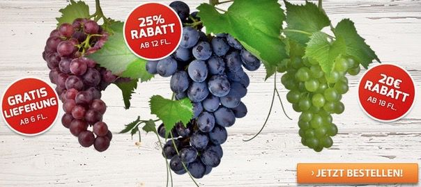 Verschiedene Weinvorteil Gutscheine in der Übersicht   nur für Neukunden!