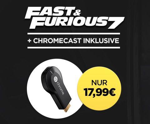 Google Chromecast + Fast & Furious 7 als Stream für 17,99€
