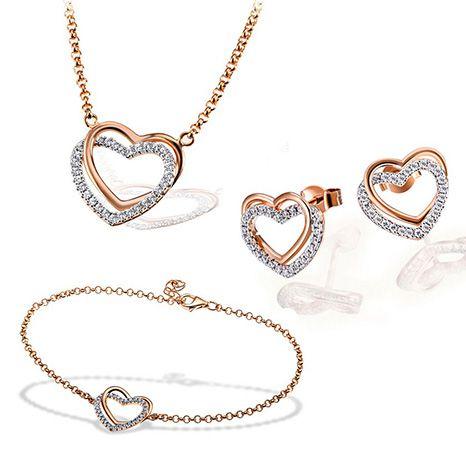 Goldmaid Kette, Armband oder Herz Ohrstecker (925 Silber + Zirkonia) für 39,99€