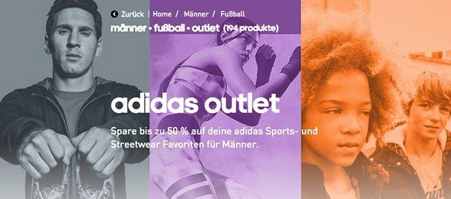 adidas Fußball Outlet mit 25% Extra Rabatt