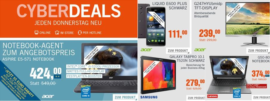 aktuelle Cyberdaels Lenovo G50 80   15,6 Notebook mit i5 für 374€ in den Cyberdeals
