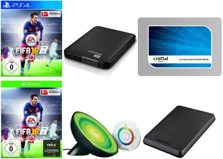 EA Sports FIFA 16   PS4 o. Xbox one je 49,99€   Western Digital Portable 1TB für 49,90€ dank neuen 10€ allyouneed Gutschein