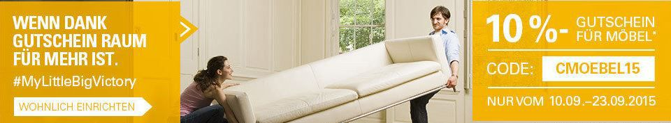 ebay mit 10% Rabatt auf Artikel in den Kategorien: Möbel, Babymöbel und Gartenmöbel bei PayPal Zahlung