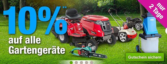 10% Rabatt auf alle Gartengeräte bei GartenXXL + VSK frei ab 20€