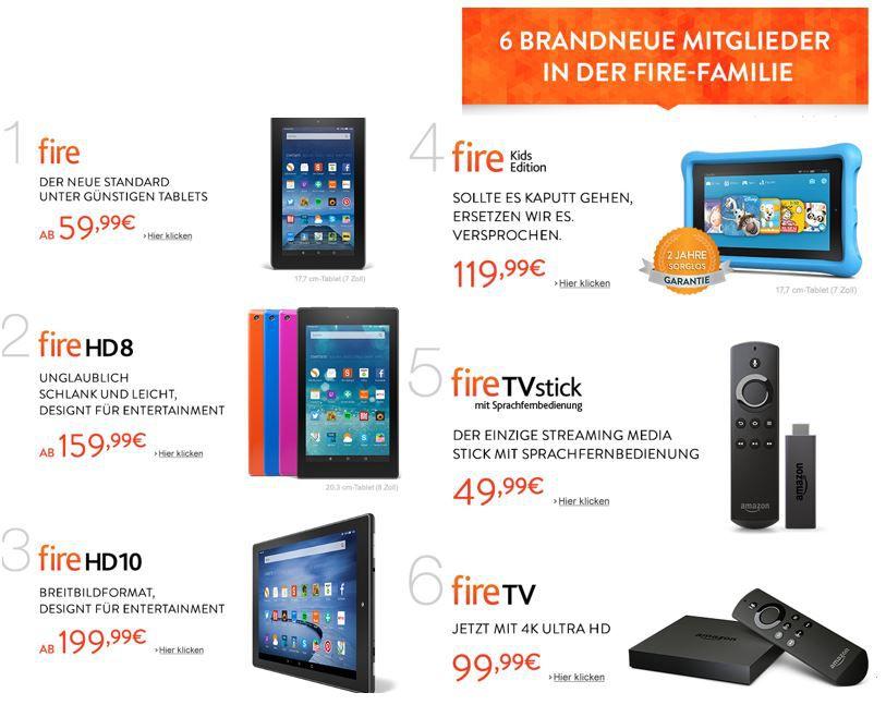 Tipp! Die neuen Amazon Kindle + Fire TVs sind Online und bestellbar!