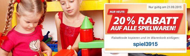 real Spielwaren Nur heute! 20% Rabatt auf Spielwaren bei real – online und offline