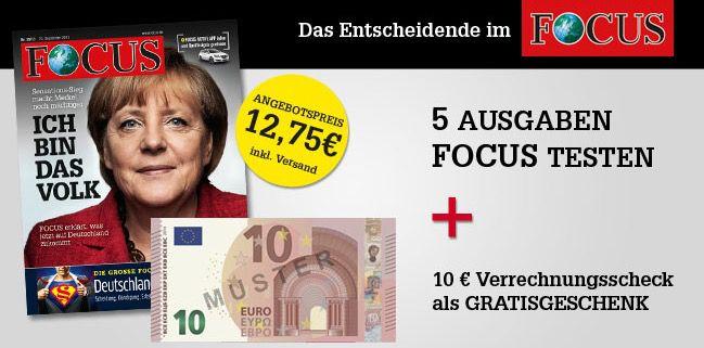5 Ausgaben Focus
