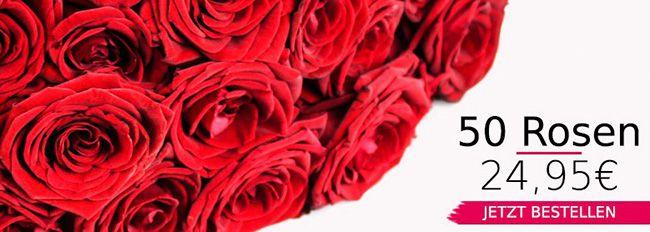 20 rote Rosen für 17,90€ oder 50 Rosen für 29,90€   Versand am 22.1.2016