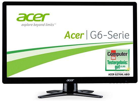 Acer G276HLAbid   27 Zoll Full HD Monitor für 155€