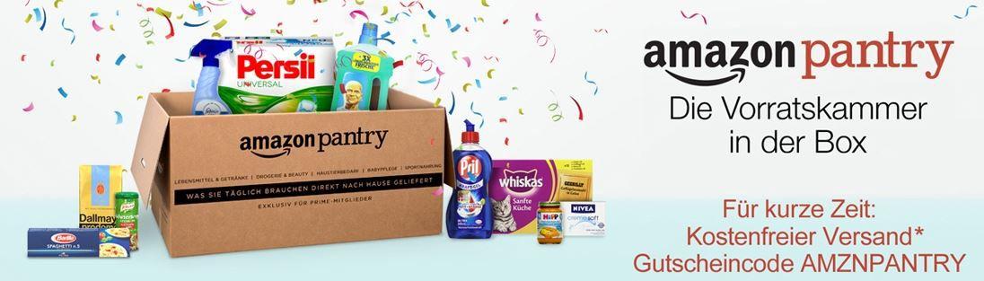 Amazon Panty Amazon Pantry   Haushalt   Tier   Lebensmittel   Büro und Drogerieartikel kostenlos liefern lassen