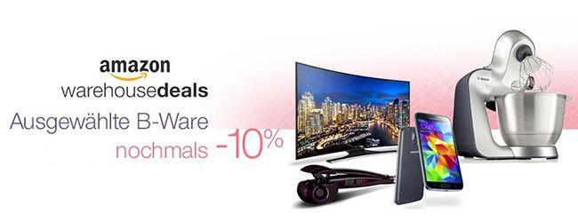Amazon Warehouse Deals   ausgewählte Angebote in 18 Rubriken mit 10% Extra Rabatt!