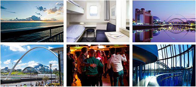 2 Personen Mini Kreuzfahrt von Amsterdam nach Newcastle mit 2 Übernachtungen für 98€