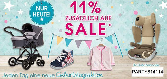 11% Rabatt auf Sale Artikel beim Baby Markt   nur heute!