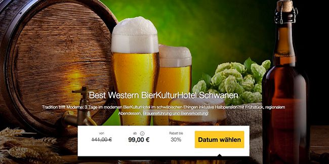 3 Tage im 4 Sterne Bier Kultur Hotel mit Halbpension und Bierverkostung ab 99€ p.P.