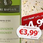6 Flaschen Pierre Baptiste Sauvignon Blanc-Viognier für 27,45€