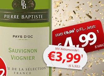 6 Flaschen Pierre Baptiste Sauvignon Blanc Viognier für 27,45€
