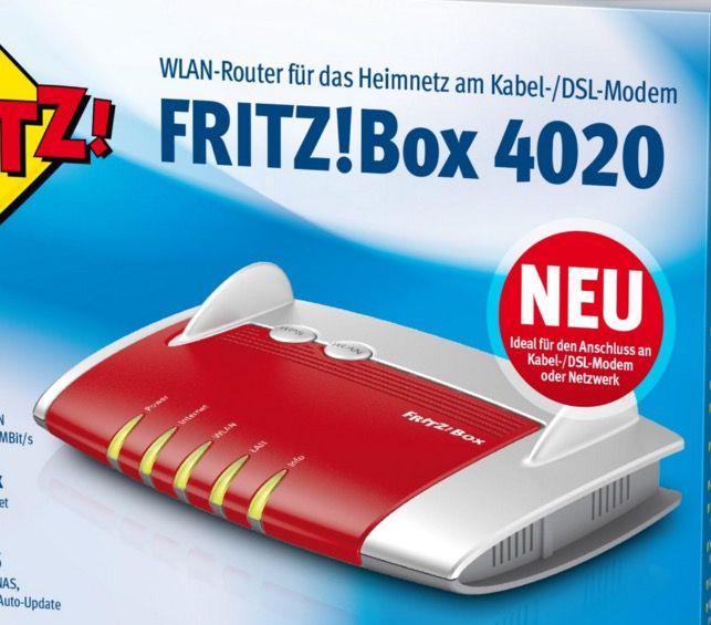 AVM FRITZ!Box 4020 450MBit WLAN n Router für 29€   Zustand Sehr gut