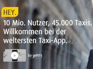 20€ mytaxi Neukunden Guthaben   TOP!   Gratis