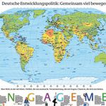 Kostenlos! Weltkarte vom Entwicklungsministerium (138x98cm)