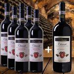 6 Flaschen Vallaresso Chianti Riserva DOCG + 1 Magnum-Flasche + 4 Gläser für 59,90€