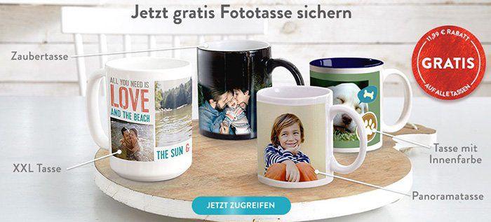 Fototasse mit eigenem Foto oder Logo für 2,99€