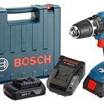 Bosch GSB 18-2-LI Professional + 2 x 1,5 Ah Akkus für 135,90€ (statt 170€)