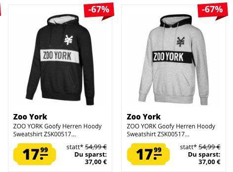 Zoo York Herren Sweathirts & Hoodies für je 17,99€ zzgl. VSK