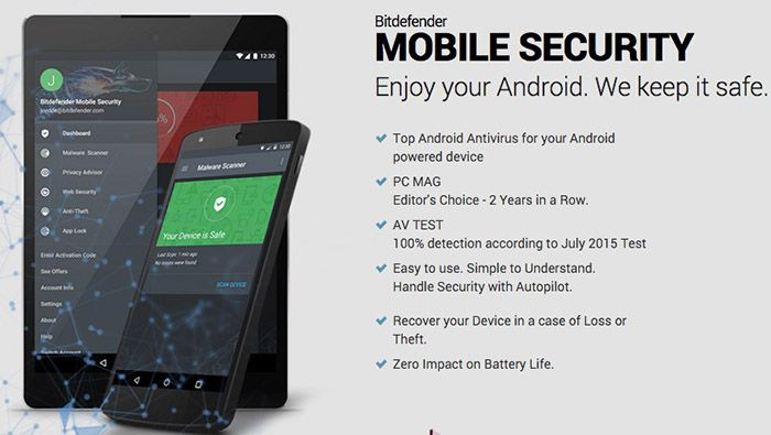 Bitdefender Mobile Security für Android 6 Monate gratis