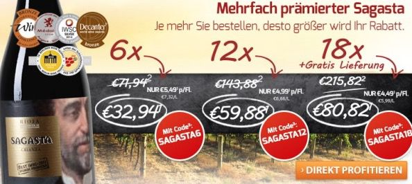 Bodegas Olarra Rioja DOC Crianza Rotwein ab 37,89€   5 fach prämiert!