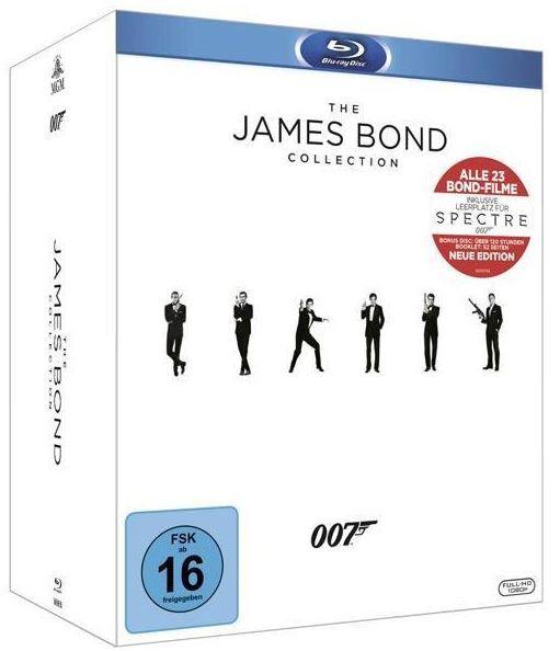 The James Bond Collection 24 Filme Blu ray [2016] Box für 69,97€ (statt 75€)