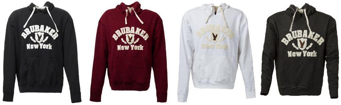 BRUBAKER N.Y. Eagle   coole Herren Sweatshirt mit Kapuze ab 24,99€