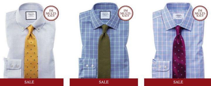 Charles Tyrwhitt Sale + 20%  EXTRA Rabatt   günstige hochqualitative Hemden etc.