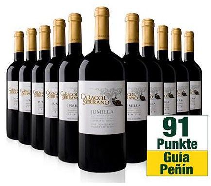 10 Flaschen Caracol Serrano D.O. Jumilla 2009 + 1,5l Magnum Flasche für 44,90€