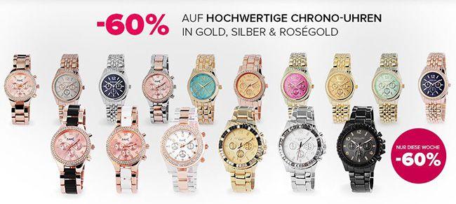 Chrono Uhren ab 8€ + 5€ Gutschein ab 10€ MBW