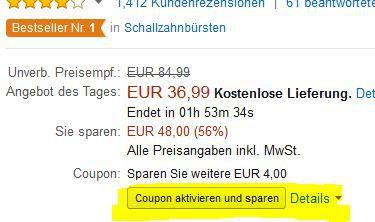 Oral B Pro 2500 Black Edition eZahnbürste mit Reiseetui ab 33,74€ + mehr Amazon Tagesangebote