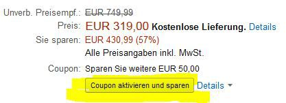 CouponKaffeemaschine KRUPS EA 8161  Kaffeevollautomat (1,8 l, 15 Bar, LC Display, AutoCappuccino System) statt 370€ für 269€