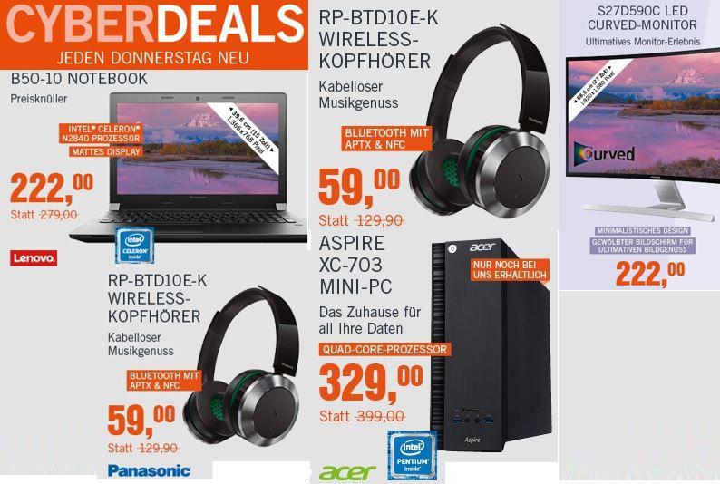 Cyber Angebote dr Woche Oktober Lenovo B50 10 Notebook für 222€ in den Cyberdeals
