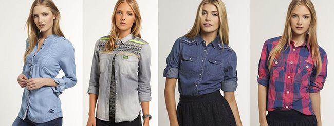 Damen Superdry Hemden Damen Superdry Hemden für je 17,47€