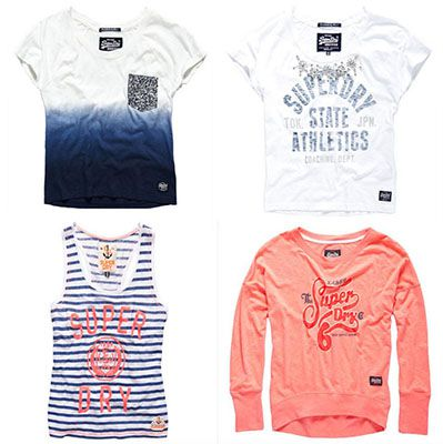 Superdry Damen Tops für je 19,95€   verschiedene Modelle & Farben