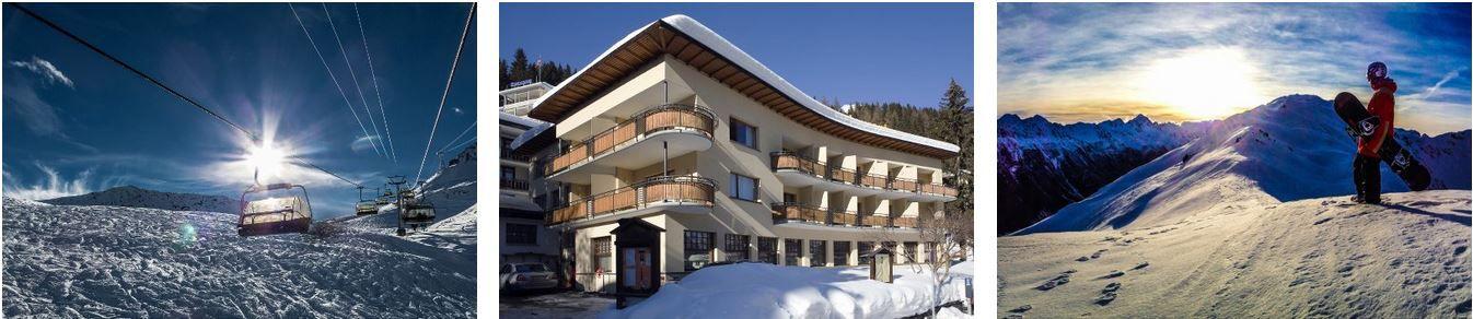Davos 3* Hotel Strela Skiurlaub in Davos mit 3, 4 oder 5 Übernachtungen inklusive Frühstück und Skipass ab 239€ p.P.