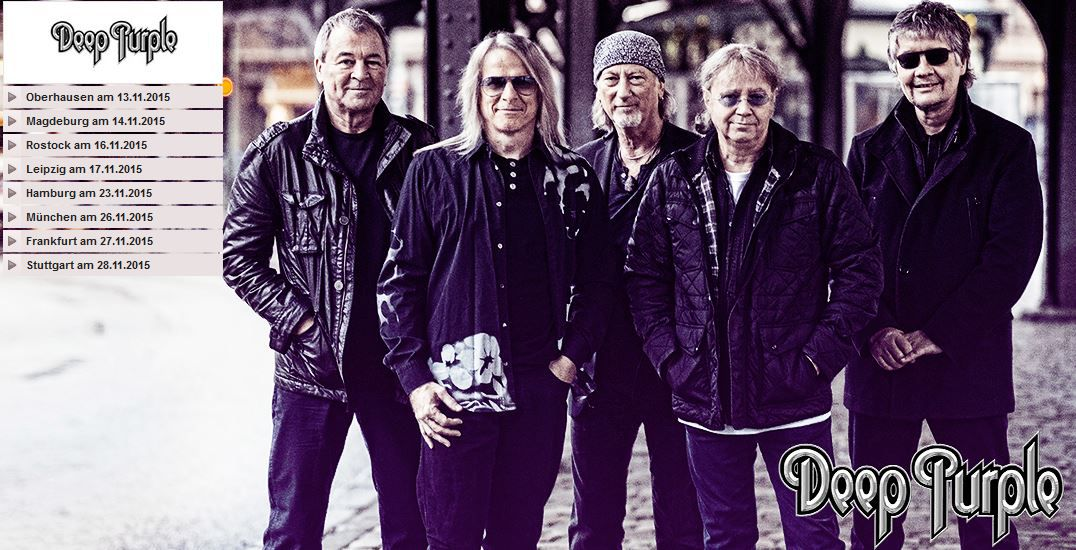 Deep Purple Konzert Tickets   versch. Städte ab 27€