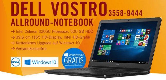 Dell Vostro 15 (3558 9444) Notebook für 249€   1,5 GHz, 4GB Ram, 500GB, Win 8.1