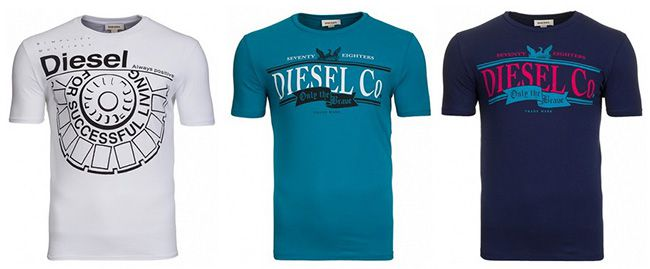 Diesel T Shirts Verschiedene Diesel T Shirts für je 14,99€