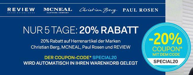 20% Rabatt auf 4 Marken bei Fashion ID + kostenloser Versand