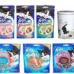 Felix Multipack – 12 x Katzen Snacks mit gratis Metall Leckerli Dose ab 10,99€