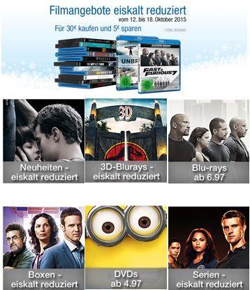 Filmangebote eiskalt reduziert bei den Amazon DVD und Blu ray Aktionen