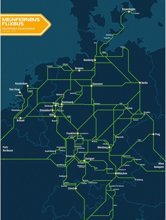 Flixbus mit Tickets ab 5€ und neuen Nachtlinien quer durch Europa