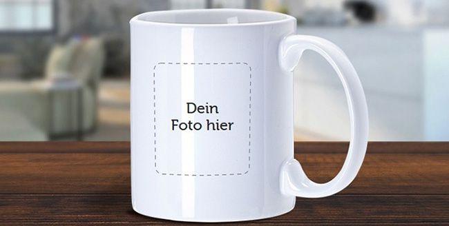 Fototasse mit eigenem Foto Fototasse mit eigenem Foto oder Logo für 2,99€